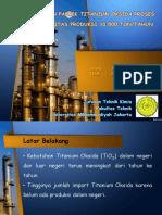 Prarancangan Titanium Oksida Kapasitas 10.000 Ton/tahun