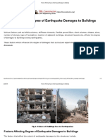Factors Affecting Degree of Earthquake Damages to Buildings