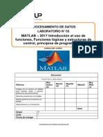 Lab 03 - Matlab - Introducion Al Uso de Funciones, Funciones Logicas y Estructuras de Control,Principios de Programacion