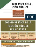 CÓDIGO DE ETICA DE LA FUNCIÓN PÚBLICA