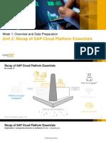 Unit 2 Recap of SAP Cloud Platform Essentials Slides