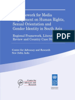 A Framework for Media Engagement on Human Rights Sexual Orientation and Gender Identity in South Asia Regional Framework Literature Review and Country Case Studies