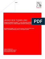 Jacked Box Tunnelling