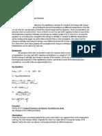 CHM 201 Lab - Determination of an Equilibrium Constant