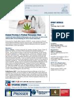 Annual Meeting - Medical Marijuana EVENT FLYER