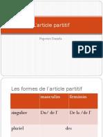article partitif.pptx