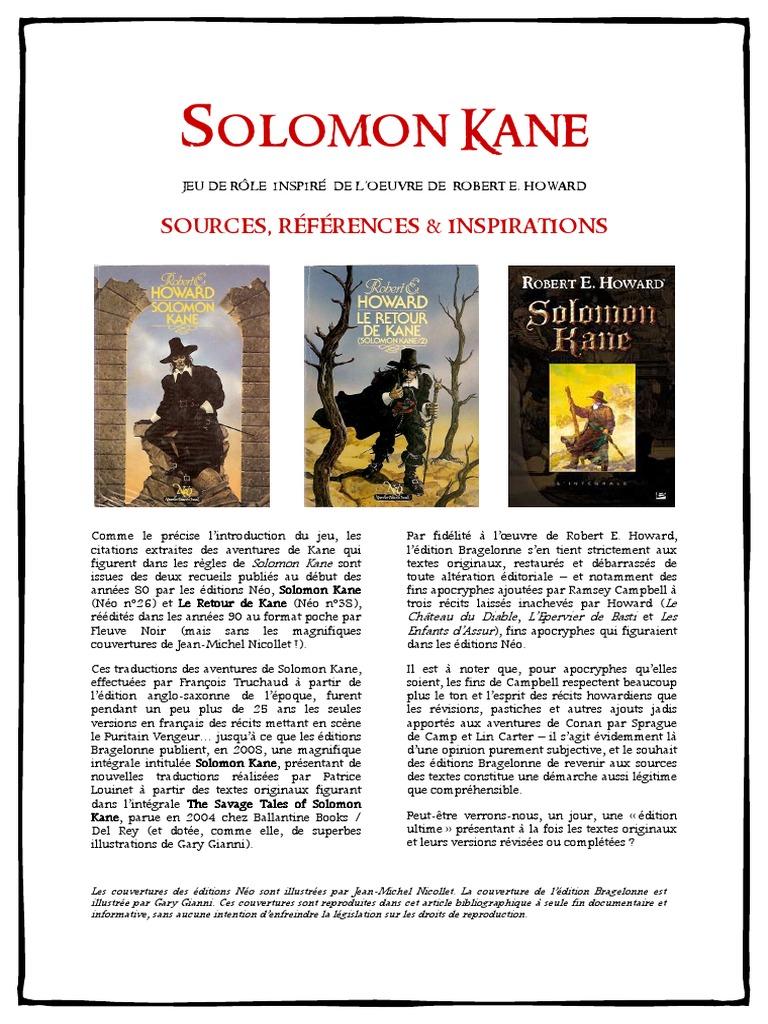 Des ailes dans la nuit: Solomon Kane, T2 (French Edition)