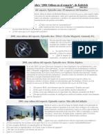 Cuestionario Sobre 2001 Odisea en El Espacio