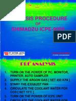 Analysis Procedure Icpe9000