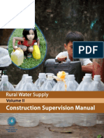 World Bank Rural Water Supply Manual Vol2 Construction Supervision Manual 2012