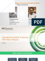 Standardizing Safety & Security With Static Analysis
