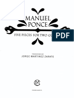 Manuel Ponce Five Pieces for Two Guitars - Transcribed Jorge Martinez Zarate