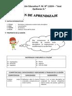 Sesion de Aprendizaje - Revisamos y Mejoramos Nuestro Texto Descriptivo