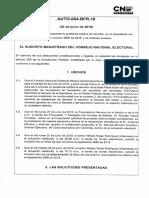 Auto CNE  Antanas Mockus - Solicitud de Pruebas - 2 Contratos CORPOVISIONARIOS