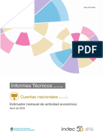 Estimador Mensual de Actividad Económica (EMAE) abril