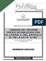 Nueva Directiva de Informes Previos - RC 148-2016-CG-GPROD