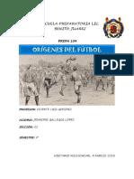 Origen Del Futbol