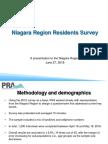 Niagara Region Survey.