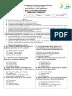 EVALUACION SINTESIS DE CIENCIAS 4°2018