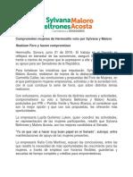 21/06/2018 Comprometen mujeres de Hermosillo voto por Sylvana y Maloro