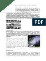 Problemas Que Provocaron Los Desastres Ocurridos en Guatemala