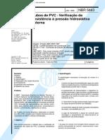 NBR 05683 - Tubos de PVC - Verificacao Da Resistencia a Pressao Hidrostatica Interna