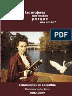 Libro Feminicidios en Colombia