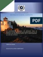 Alonso, o - -l a e c o n o m e t r í a e s p a c i a l. u n e n f o q u e p a r a e l Estudio a Nivel de Datos Microterritoriales de Las Políticas de Desarrollo Rural de La Unión Europea