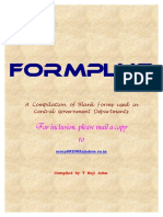 Form Plus Forms Used in Departments