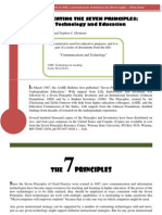 Implementing the 7 principles technology and education