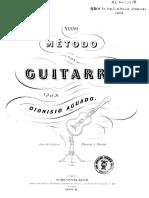 Dionisio Aguado. Nuevo Método de Guitarra