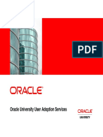 Oracle User Adoption Services