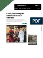 27-06-18 Castro promete mejores condiciones de vida y desarrollo
