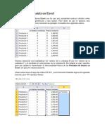 Fórmulas de Matriz en Excel