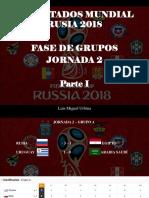 Luis Miguel Urbina - Resultados Mundial Rusia 2018, Fase de Grupos, Jornada 2, Parte I