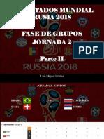Luis Miguel Urbina - Resultados Mundial Rusia 2018, Fase de Grupos, Jornada 2, Parte II