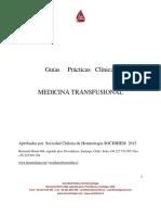 2015 Guía Medicina Transfusional SOCHIHEM