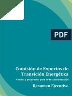 Resumen Ejecutivo Comisión Expertos Transición Energética