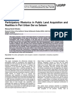 Participatory Rhetorics in Public Land Acquisition and Realities in Peri Urban Dar es Salaam