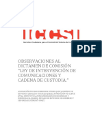 NOTICIAUNO - Iccsi-Observaciones Al Proyecto Escuchas