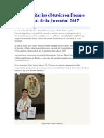 Universitarios Obtuvieron Premio Estatal de La Juventud 2017