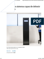 La Nacion - IBM Devela Un Sistema Capaz de Debatir Con Humanos