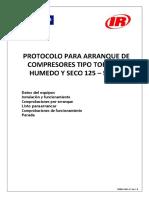 Protocolo Arranque Compresor Tornillo 125-500hp