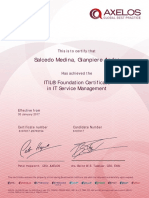 Certificado ITIL Foundations Gianpiere