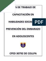 Plan de Capacitación en Habilidades Sociales y Prevencion Del Embarazodocx