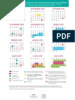 Calewndario Escolar 2018-2019