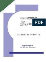 Beryllisations 1 Para Alto Sax Solo Jailton de Oliveira