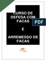 PDF - Curso de Defesa Com Facas e Arremesso de Facas
