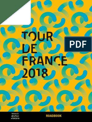 2018 Tour De France Roadbook Cycle Racing Cycle Sport