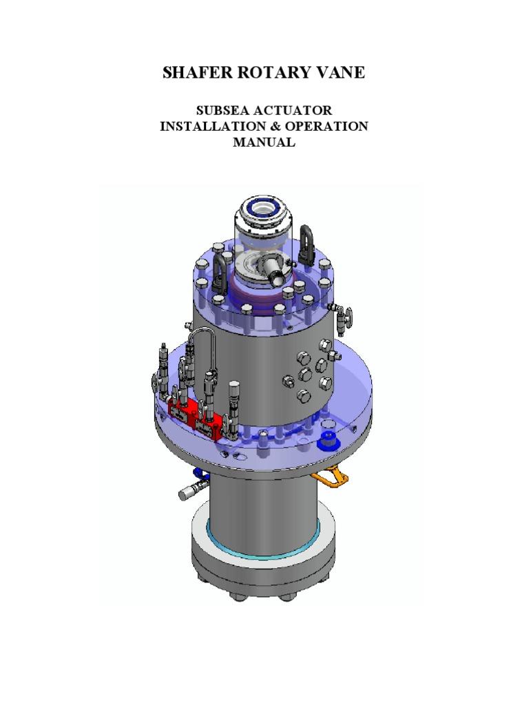 subsea iom valve actuator rh scribd com